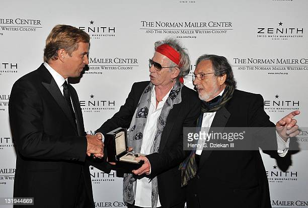Jean Frederic Dufour Keith Richards and Lawrence Schiller attend the 3rd Annual Norman Mailer Center Gala at the Mandarin Oriental Hotel on November...