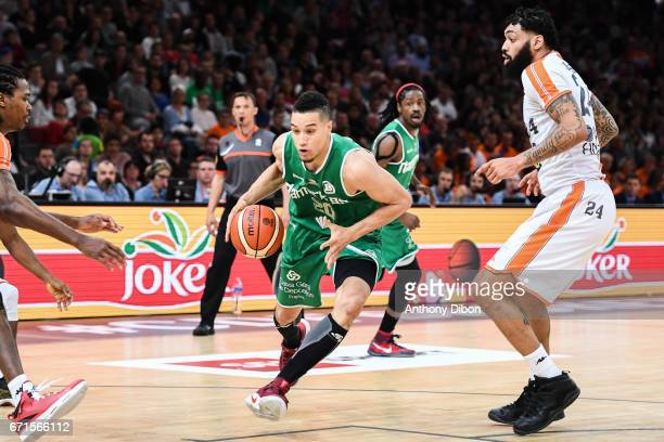 Jean Frederic Morency of Nanterre during the Final of the French Cup between Le Mans and JSF Nanterre at AccorHotels Arena on April 22 2017 in Paris...