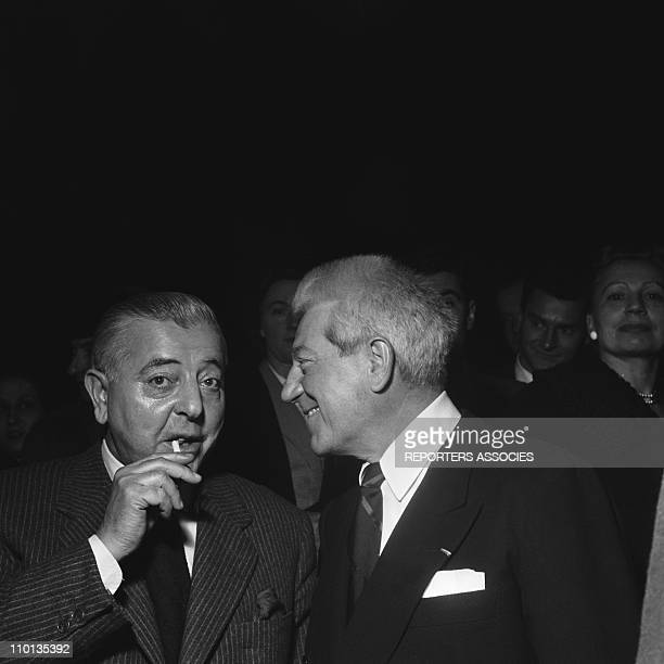 Jean Gabin and Jacques Prevert in 1950