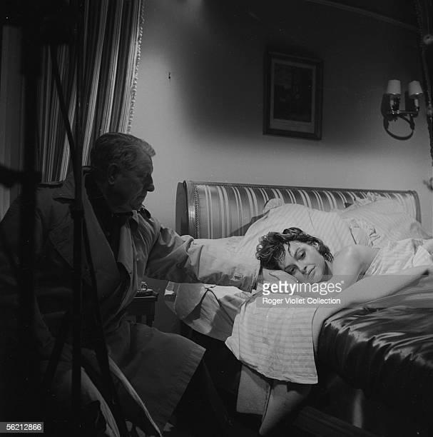 Jean Gabin and Nadja Tiller Studios of Boulogne February 21 1958
