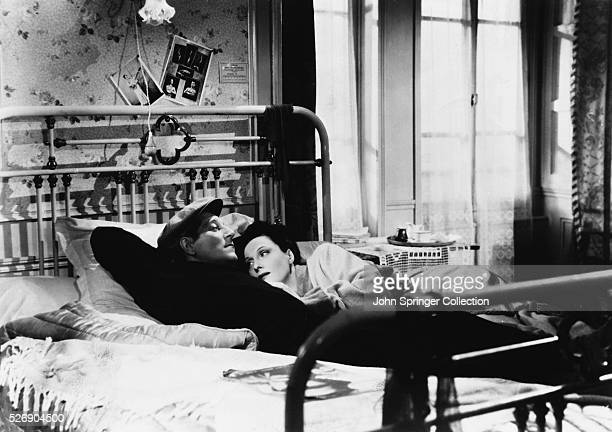 Jean Gabin as Francois and Arletty as Clara in the 1939 film Le Jour se Leve or in English Daybreak