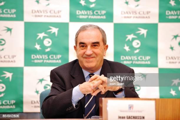 Jean GACHASSIN Tirage au sort Coupe Davis Republique Tcheque / France Ostrava
