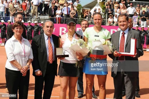 Jean GACHASSIN / Aravane REZAI / Lucie HRADECKA Finale du Tournoi WTA de Strasbourg 2009