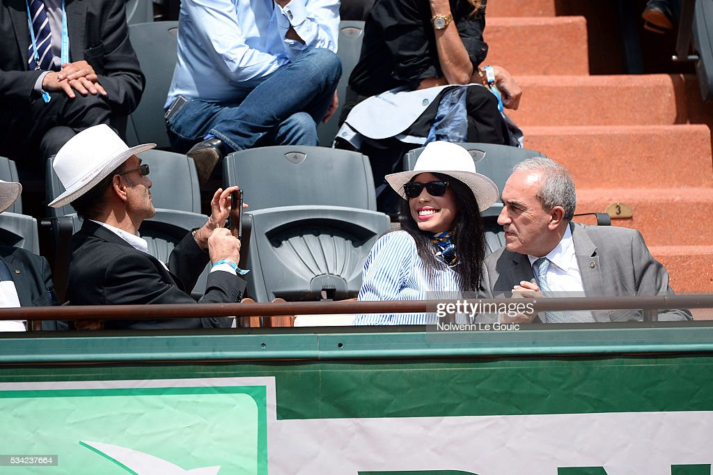 Jean Gachassin president of the tennis french federation during the Men's Singles second round on day four of the French Open 2016 at Roland Garros on May 25, 2016 in Paris, France.