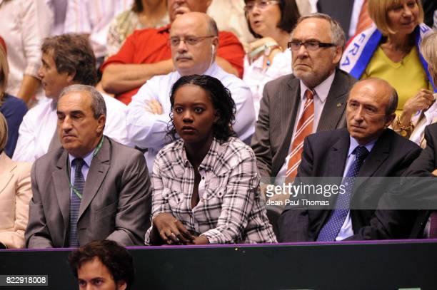 Jean GACHASSIN / Rama YADE / Gerard COLLOMB 1/2 Finale Coupe Davis 2010 Match 3 Palais des sports de Gerland Lyon