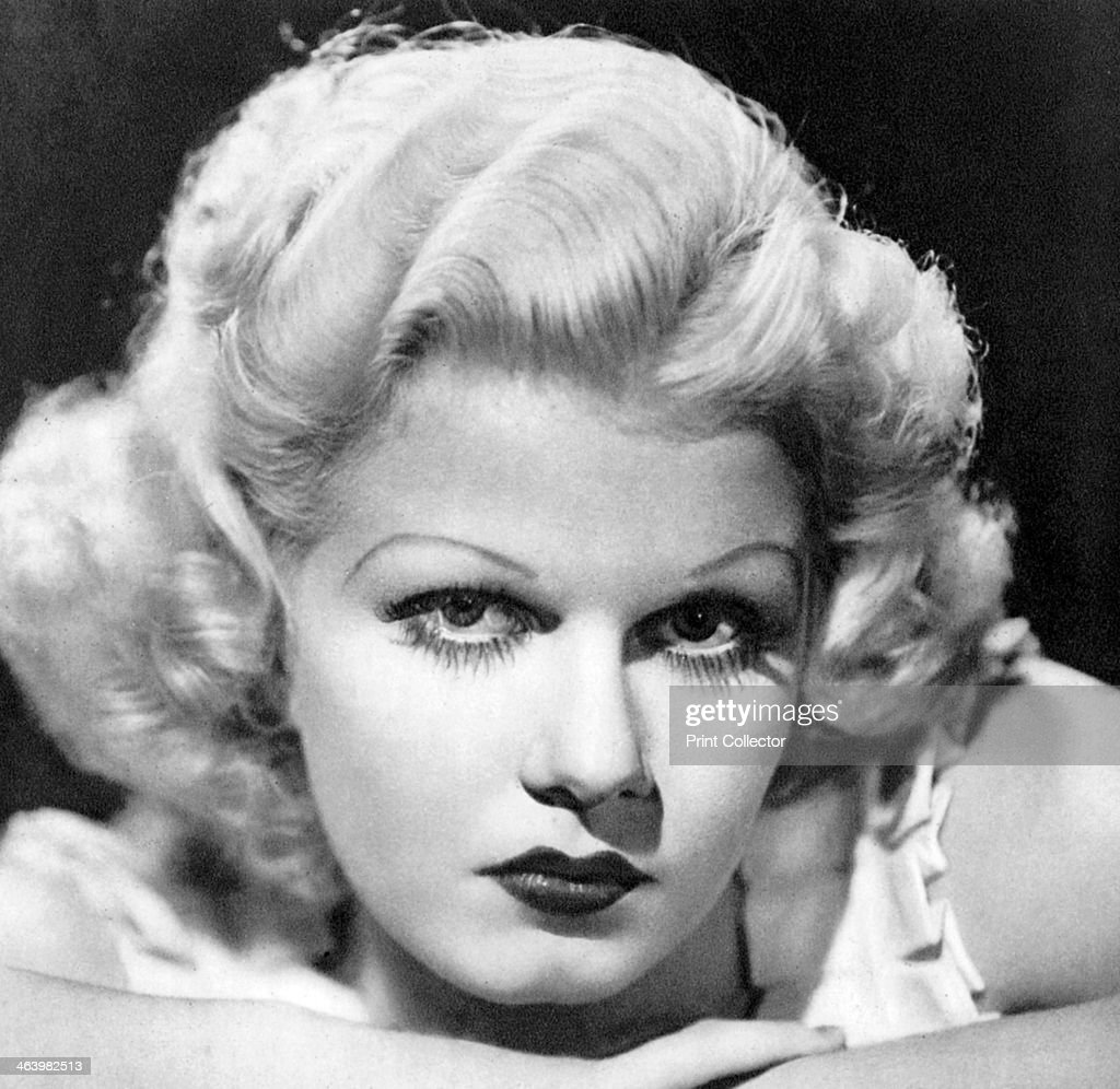 Jean Harlow, American actress, 1934-1935. Known as the Platinum Blonde, Jean Harlow was one of Hollywood's biggest stars and foremost sex symbols of the 1930s. Her career was tragically cut short when she died from kidney failure in 1937 aged just 26. Taken from Meet the Film Stars, by Seton Margrave. (London, 1934-1935).