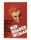 Jean Harlow in movie art for the film 'RedHeaded Woman' 1932