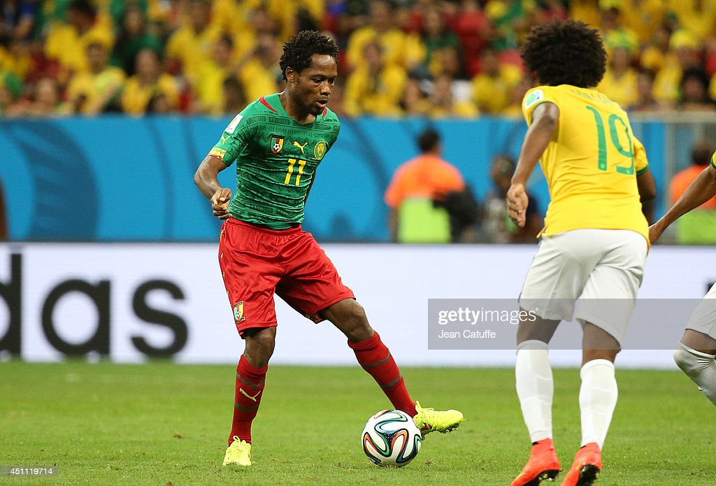 Jean II Makoun of Cameroon in action during the 2014 FIFA World Cup Brazil Group A match between Cameroon and Brazil at Estadio Nacional on June 23, 2014 in Brasilia, Brazil.