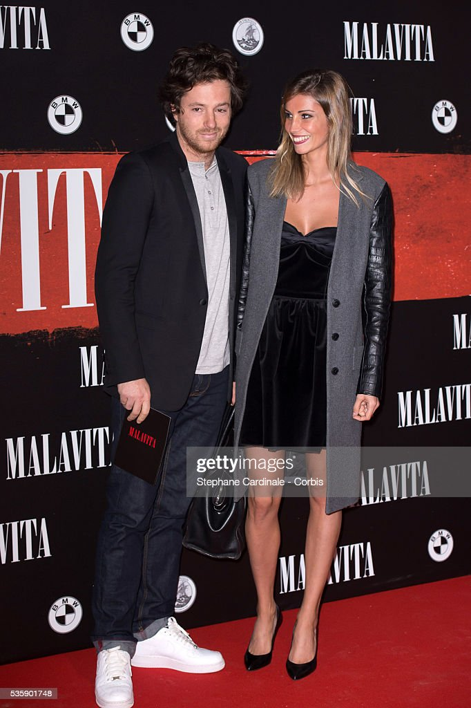 Jean Imbert and Alexandra Rosenfeld attend the 'Malavita' premiere at Europacorp Cinemas at Aeroville Shopping Center, in Roissy-en-France, France.