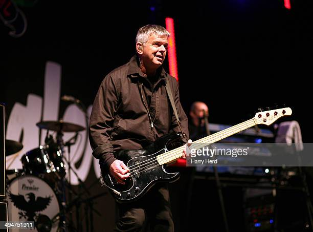 Jean Jacques Burnel of The Stranglers performs on stage at Wychwood Festival at Cheltenham Racecourse on May 30 2014 in Cheltenham United Kingdom