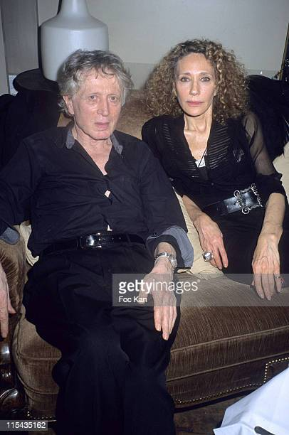 Jean Jacques Schuhl and Marisa Berenson during 'Presque Top Model' Geraldine Maillet's Book Launching Party April 26 2006 at Hotel du Nord in Paris...