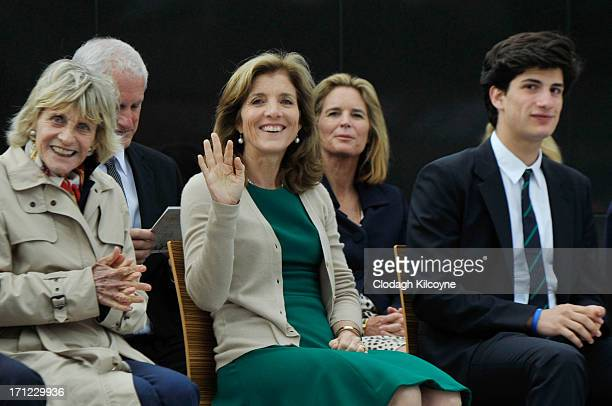 Jean Kennedy Smith Caroline Kennedy and Jack Schlossberg attend a ceremony to commemorate the 50th anniversary of the visit by US President John F...