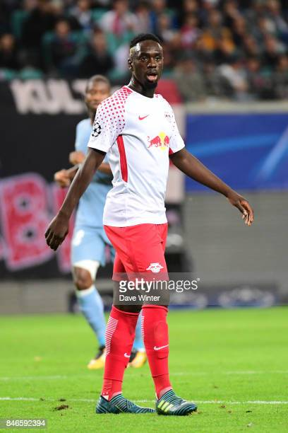 Jean Kevin Augustin of Leipzig during the Uefa Champions League match between RB Leipzig and AS Monaco at Red Bull Arena on September 13 2017 in...