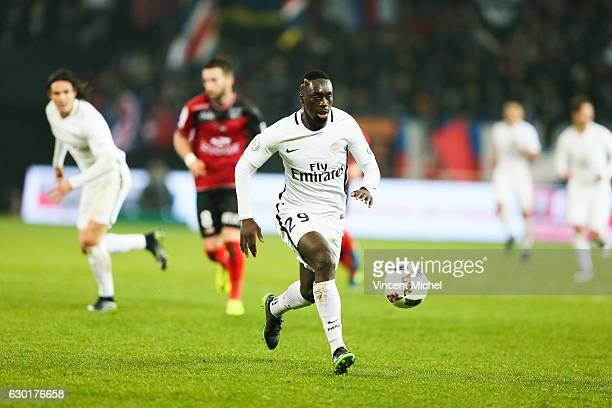 Jean Kevin Augustin of Paris Saint Germain during the French Ligue 1 match between Guingamp and Paris Saint Germain at Stade du Roudourou on December...