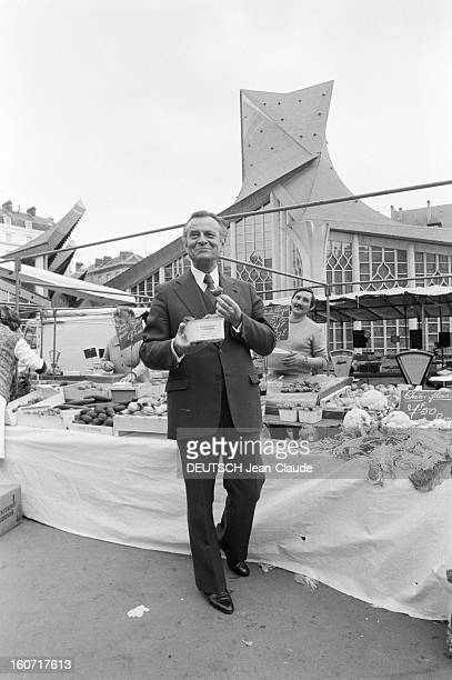 Jean Lecanuet In Rouen Rouen 11 mai 1979 A l'occasion de l'inauguration de l'église moderne SainteJeanned'Arc décorée de vitraux de l'ancienne église...