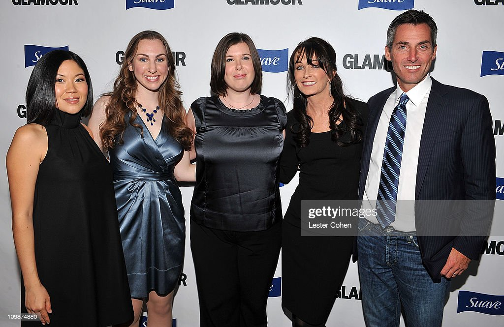 Jean Lee Associate Brand Manager Suave Unilever Glamours' Jenny Smick Stephanie Holcomb Theresa Lowrey and Glamour publisher Bill Wackermann arrive...