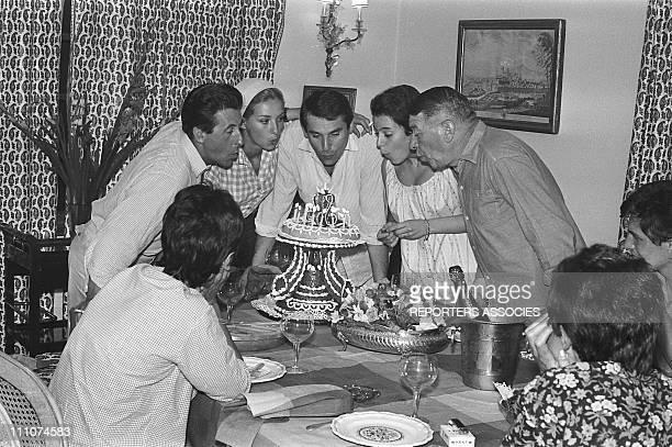 Jean Lefebvre Robert Hossein Caroline Robert Dalban in France on July 08th 1963