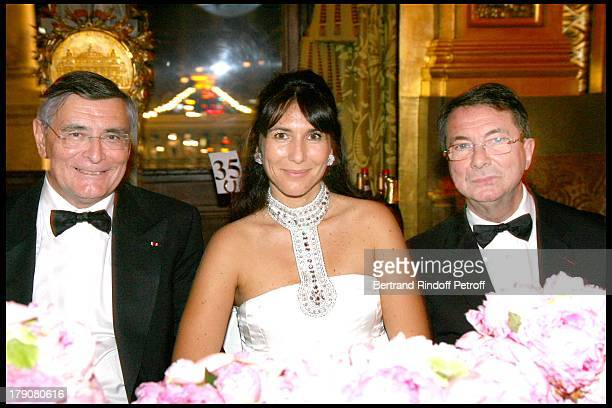 Jean Louis Beffa Mrs Philippe Journo and Gerard Mortier at AROP Production Of 'Demofoonte' At Palais Garnier
