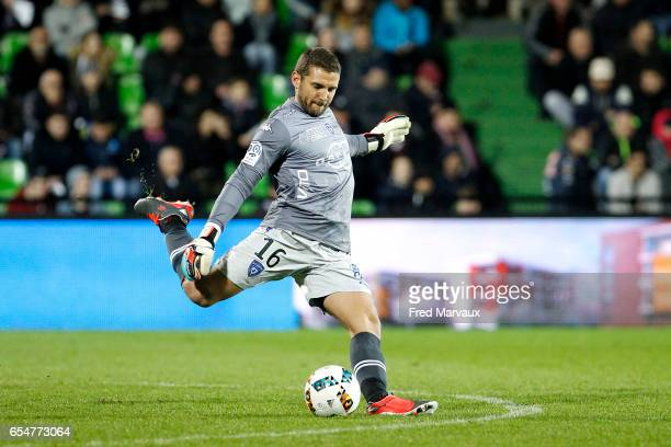 Jean Louis Leca of Bastia during the Ligue 1 match between Fc Metz and SC Bastia at Stade SaintSymphorien on March 17 2017 in Metz France