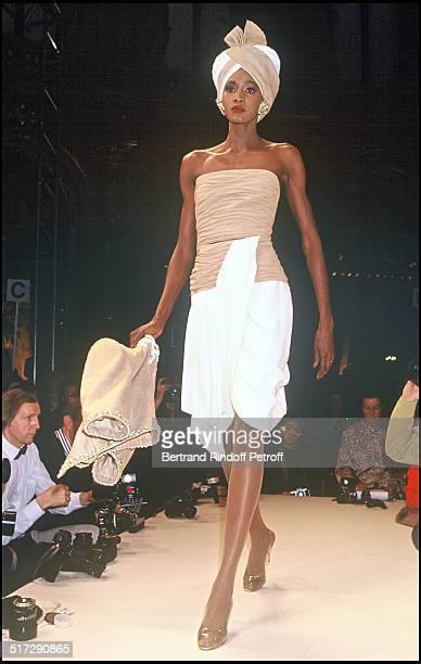 Jean Louis Scherrer fashion show spring summer 1991 collection in Paris