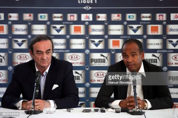 Jean Louis TRIAUD / Jean TIGANA Nouvel entraineur de Bordeaux Conference de presse Chateau du Haillan