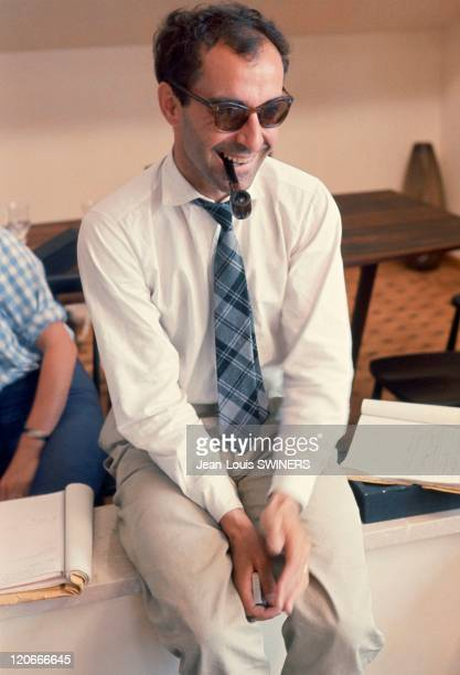 Jean Luc Godard in France in 1963 Jean Luc Godard during the shooting of 'Le Mepris'