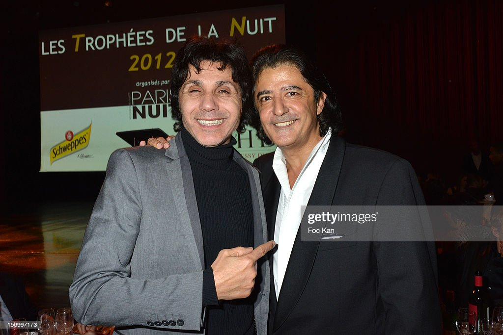 Jean Luc Lahaye and Alexandre Habibi from Paris Nuit attend The 'Paris Nuit 2012' - Les Trophees De La Nuit - Night Clubbing Awards Ceremony at the Lido on November 26, 2012 in Paris, France.