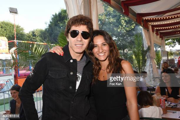Jean Luc Lahaye and his daughter Margaux Lahaye attend La Fete des Tuileries on June 23 2017 in Paris France