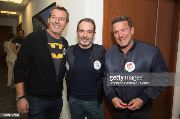 Jean Luc Reichmann Bruno Solo and Benjamin Castaldi attend the Aurel BGC Charity Benefit Day 2017 on September 11 2017 in Paris France