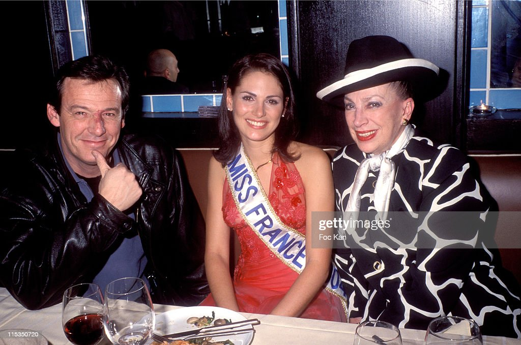 Jean Luc Reichmann, Laetitia Bleger, Miss France 2004 and Madame Genevieve De Fontenay