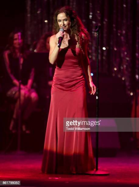 Jean Luisa Kelly performs onstage at National Breast Cancer Coalition Fund's 17th Annual Les Girls Cabaret at Avalon Hollywood on October 15 2017 in...