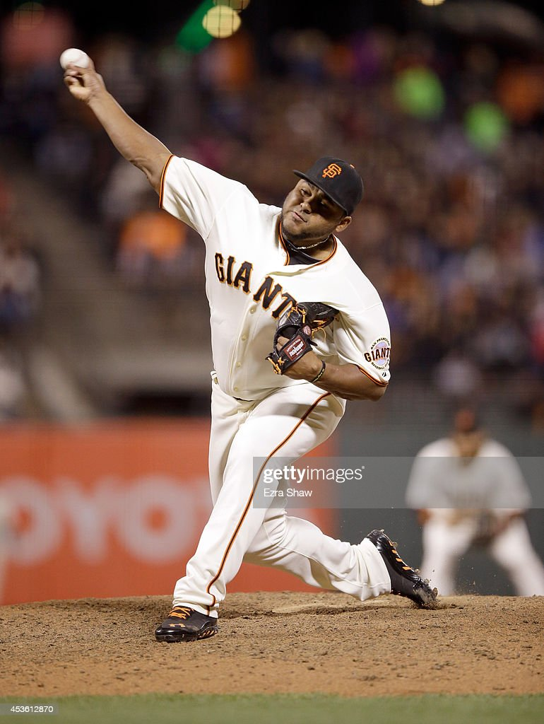 <a gi-track='captionPersonalityLinkClicked' href=/galleries/search?phrase=Jean+Machi&family=editorial&specificpeople=4166514 ng-click='$event.stopPropagation()'>Jean Machi</a> #63 of the San Francisco Giants pitches against the St. Louis Cardinals at AT&T Park on July 1, 2014 in San Francisco, California.