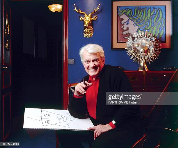 Jean Marais At Home In Paris Paris December 6 1993 Jean Marais who will celebrate his 80th birthday on December 11 receives us with him in his...