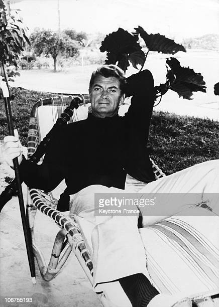 Jean Marais In Convalescence After His Injury In The Film M Cocody 1964