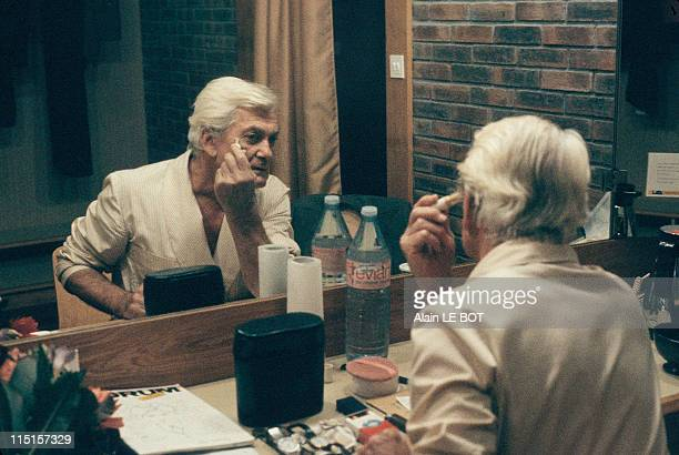 Jean Marais in his changing room in Nantes France on October 12 1984