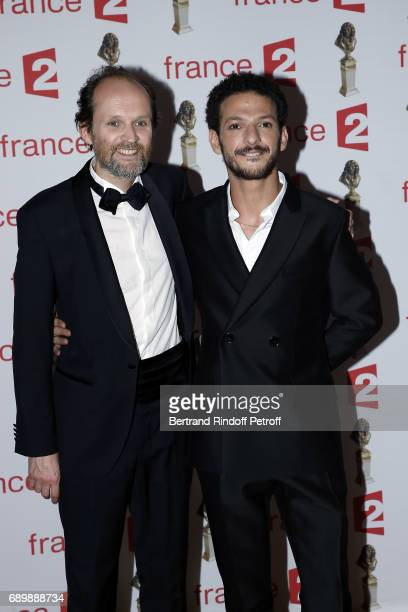 Jean Marc Dumontet and Vincent Dedienne attend 'La Nuit des Molieres 2017' at Folies Bergeres on May 29 2017 in Paris France