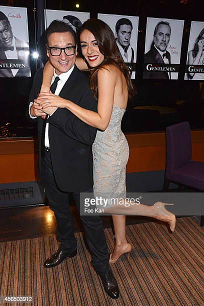 Jean Marc Genereux and Sofia Essaidi attend the 'For Ever Gentlemen 2' CD Launch at Le Paris boat on October 1 2014 in Paris France