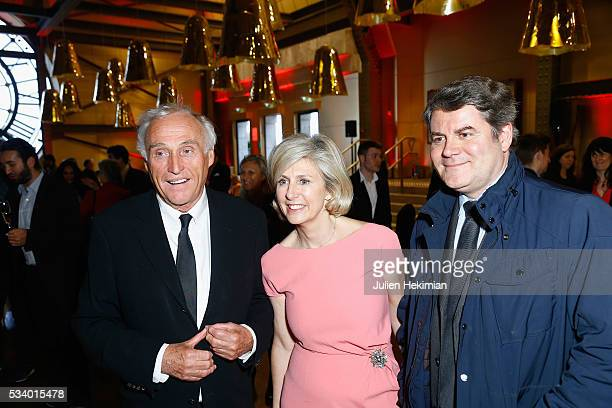 Jean Marc Sylvestre Patricia Chapelotte and Franck Louvrier attend the Atlantico 5th Anniversary at Cafe Campana at Musee d'Orsay on May 24 2016 in...