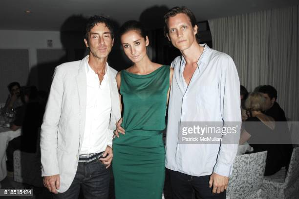 Jean MarcHoumard Rekha Luther Magnus Berger attend the INTERVIEW Magazine LVMH Host's Art Basel 2009 Cocktails and Dinner at Mondrian Hotel on...