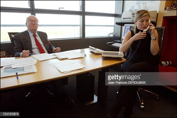 Jean Marie Le Pen in his office at the European parliament In Strasbourg France On April 08 2003