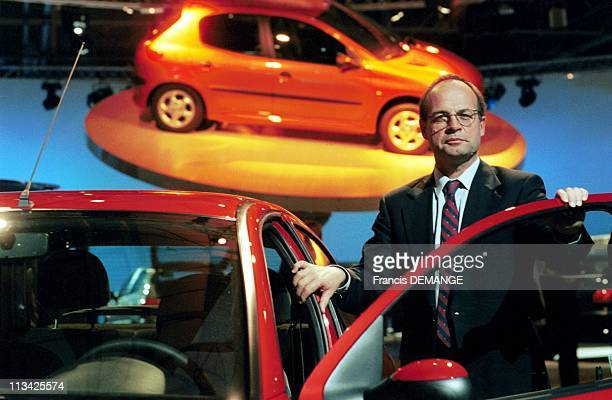 Jean Martin Floz Presents The New Peugeot 206 On June 11St 1998 In France