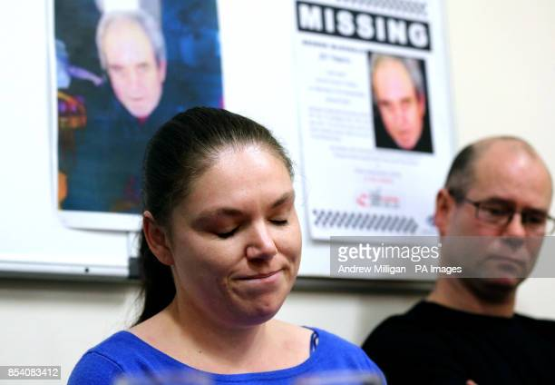 Jean McDonald makes a statement to the media at Alloa police station alongside her husband Lewis McDonald in relation to her missing brotherin law...