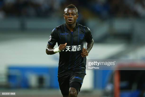 Jean Michael Seri of Nice at San Paolo Stadium in Naples Italy on August 16 2017 during the UEFA Champions League Qualifying PlayOffs Round First Leg...