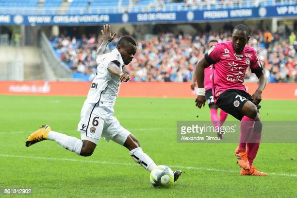 Jean Michael Seri of Nice during the Ligue 1 match between Montpellier Herault SC and OGC Nice at Stade de la Mosson on October 14 2017 in Montpellier