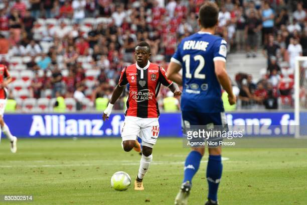 Jean Michael Seri of Nice during the Ligue 1 match between OGC Nice and Troyes AC at Allianz Riviera on August 11 2017 in Nice