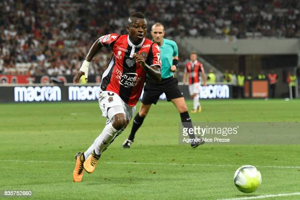 Jean Michael Seri of Nice during the Ligue 1 match between OGC Nice and EA Guingamp at Allianz Riviera on August 19 2017 in Nice