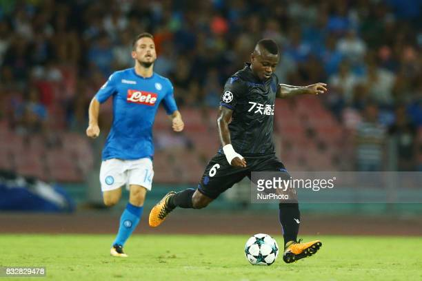 Jean Michael Seri of Nice during the UEFA Champions League Play Off first leg football match SSC Napoli vs OCG Nice on August 16 2017 at the San...
