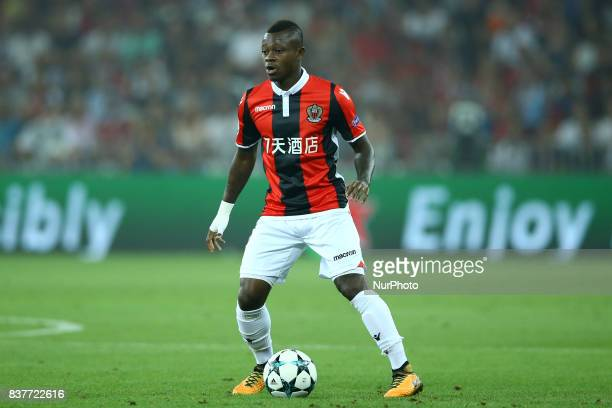 Jean Michael Seri of Nice during the UEFA Champions League Qualifying PlayOffs round second leg match between OGC Nice and SSC Napoli at Allianz...