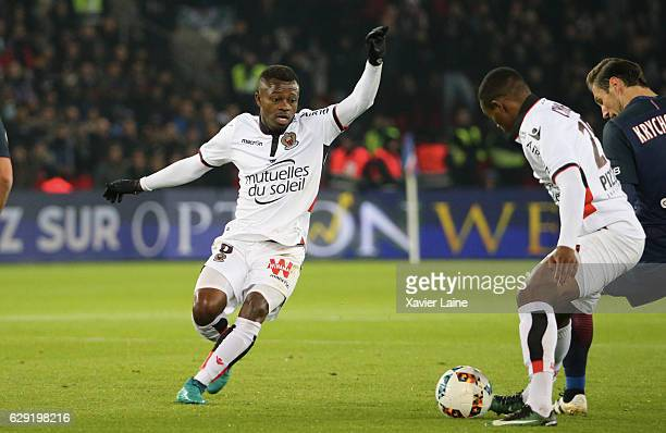 Jean Michael Seri of OGC Nice in action during the French Ligue 1 match between Paris SaintGermain and OGC Nice at Parc des Princes on december 11...