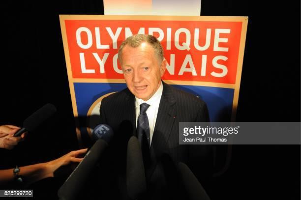 Jean Michel AULAS Presentation Remi GARDE Studio OL TV Lyon